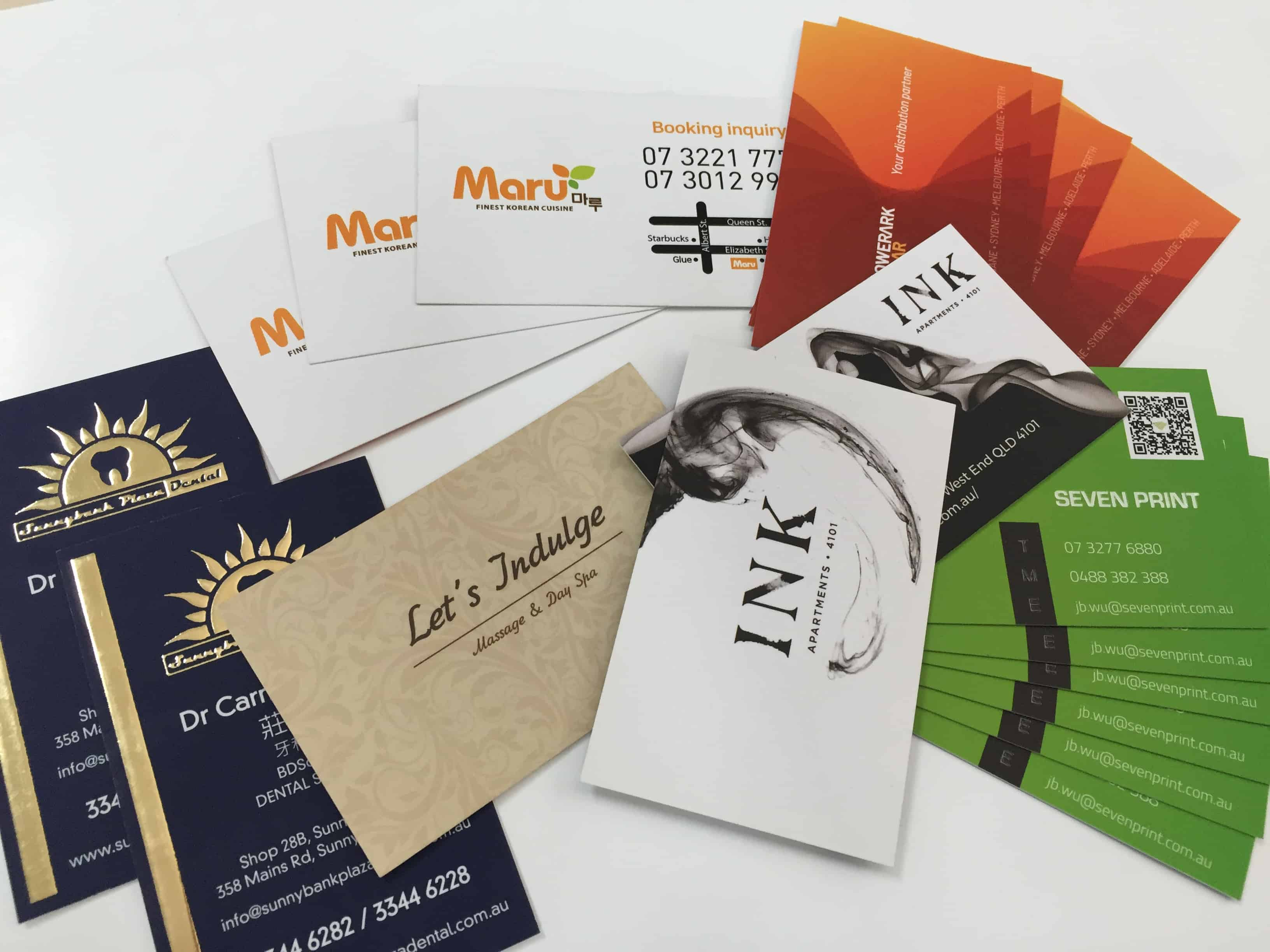 business card printing Brisbane