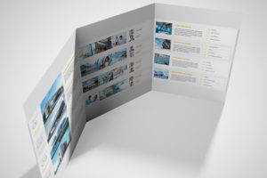 A4 Brochure 6 Pages Roll Fold
