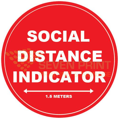 Social Distance Indicator floor sticker