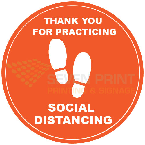 Thank you for practicing social distancing - floor sticker