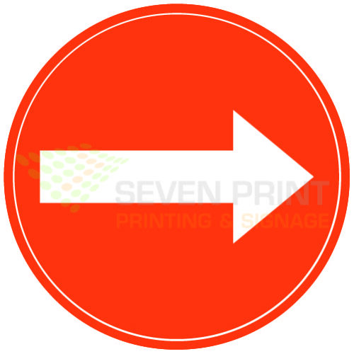 Directional arrow - floor sticker