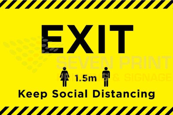 EXIT - floor sticker